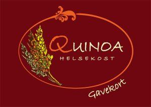 Quinoa gavekort forside